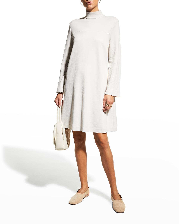 Trento Jersey Turtleneck Dress