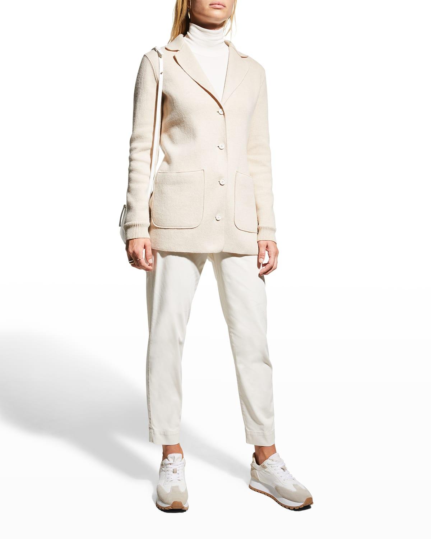 Turchia Wool-Blend Jersey Jacket