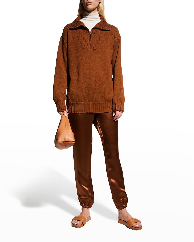 Bird Quarter-Zip Wool Sweater