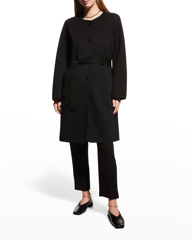 Double-Face Reversible Wool Coat