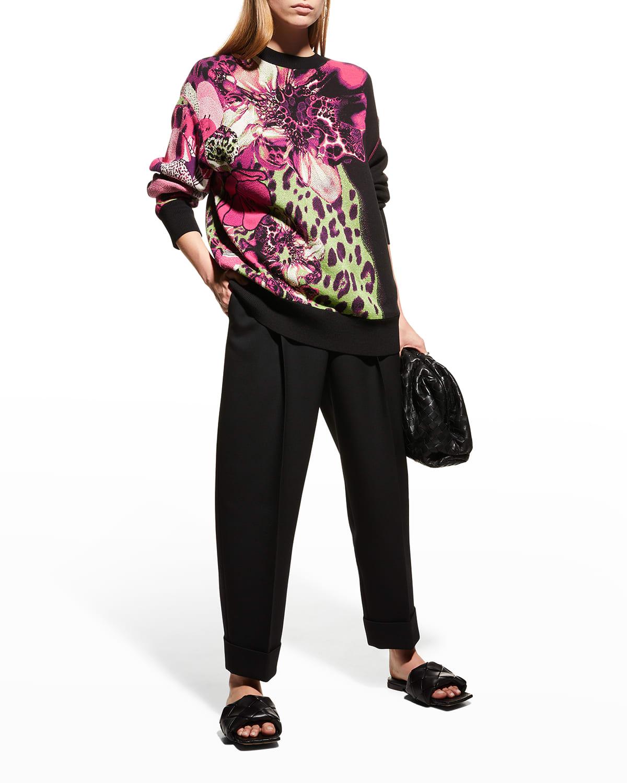 Crewneck Intarsia Sweatshirt
