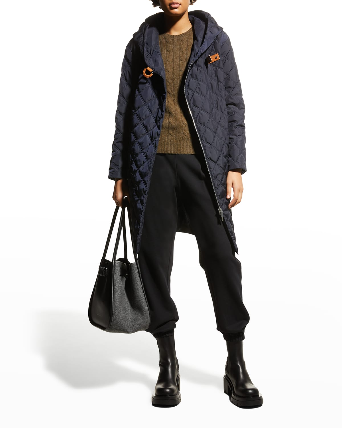 Drew Quilted Down Coat