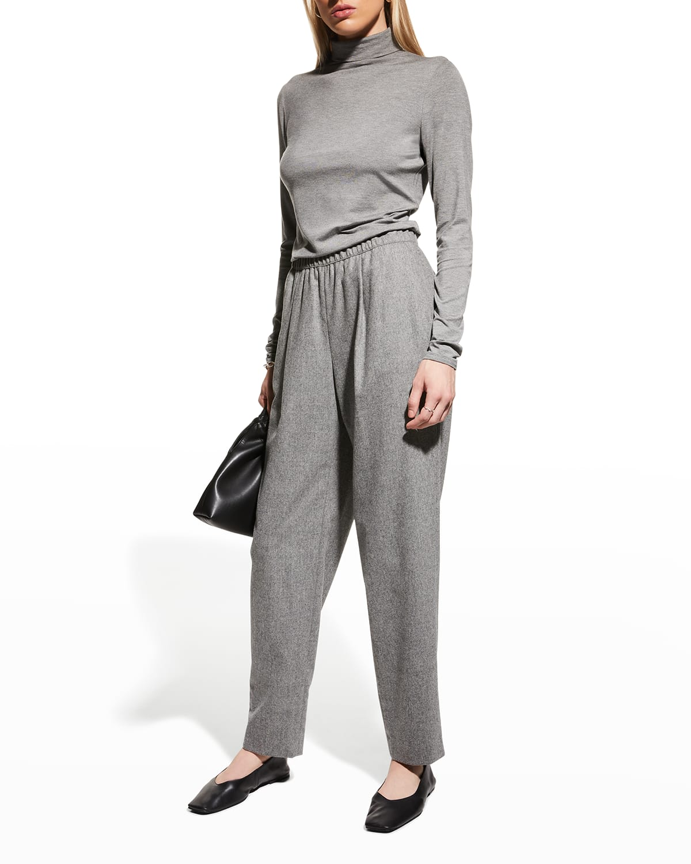 Ashland Wool-Cashmere Ankle Pants