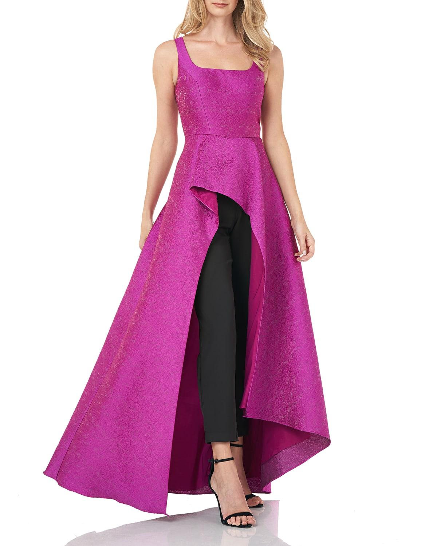 Walk-Thru Jumpsuit w/ Asymmetrical Skirt