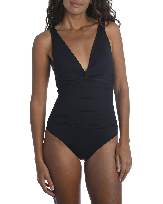 Island Goddess Twist One-Piece Swimsuit