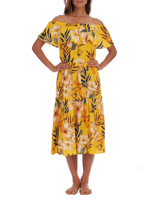 Belle Off-the-Shoulder Ruffle Dress