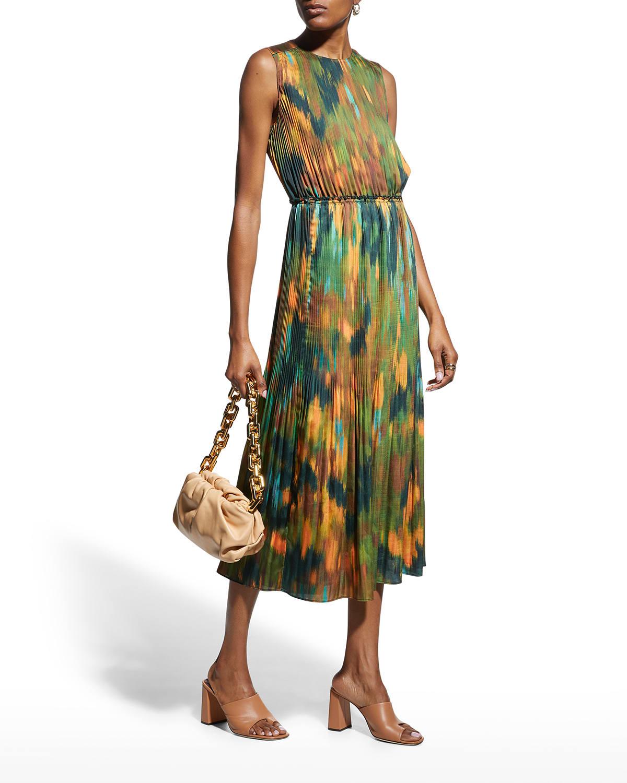 Levana Pleated Midi Dress