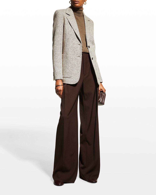 Benson Herringbone Wool Blazer