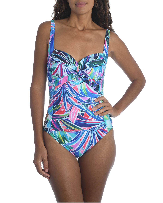 Palm Opulence One-Piece Swimsuit