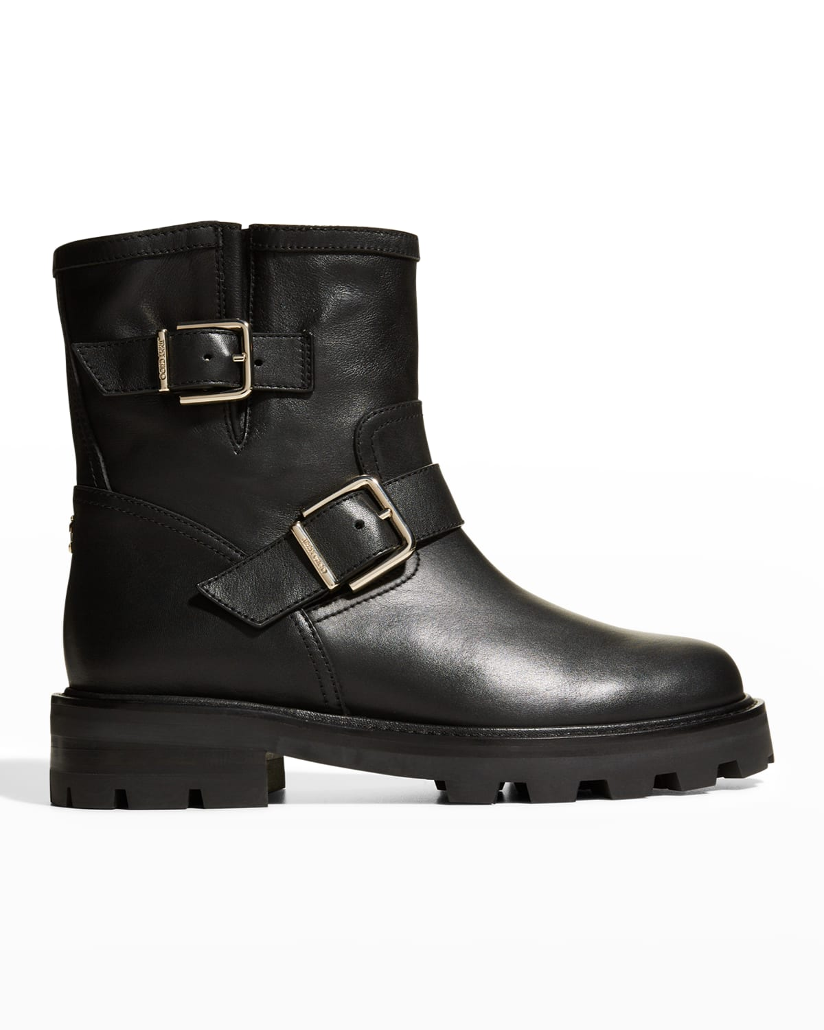 Youth II Leather Short Biker Boots