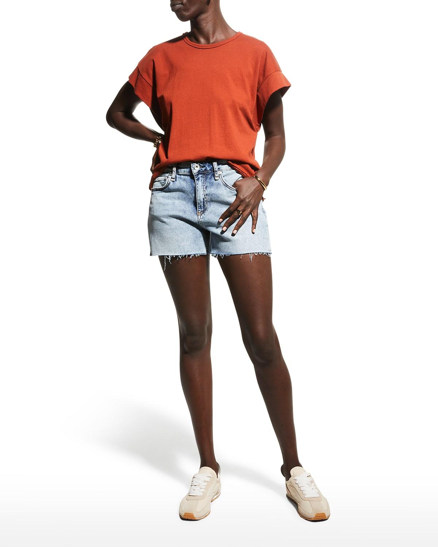 Dre Low-Rise Denim Shorts