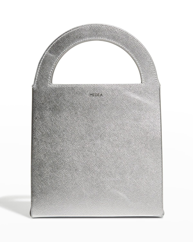 Europa Metallic Top-Handle Bag
