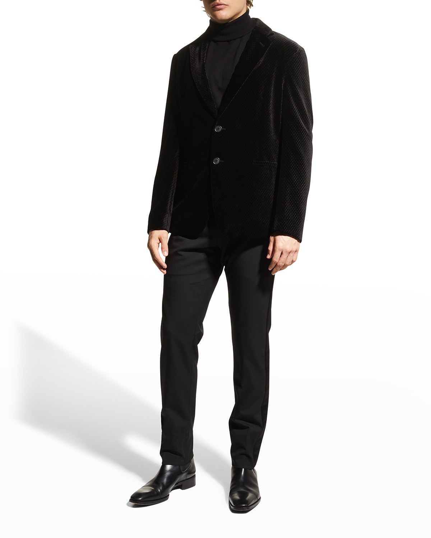 Men's Textured Velvet Sport Jacket