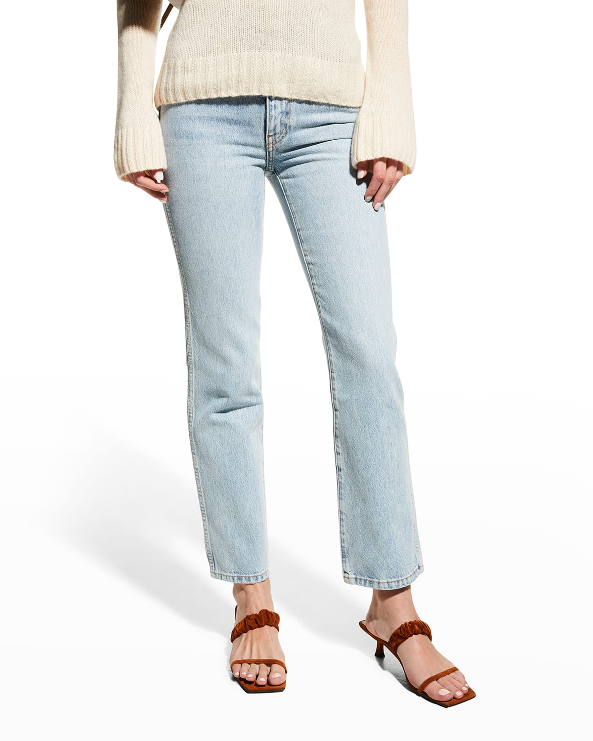 Abigail Straight-Leg Cropped Jeans