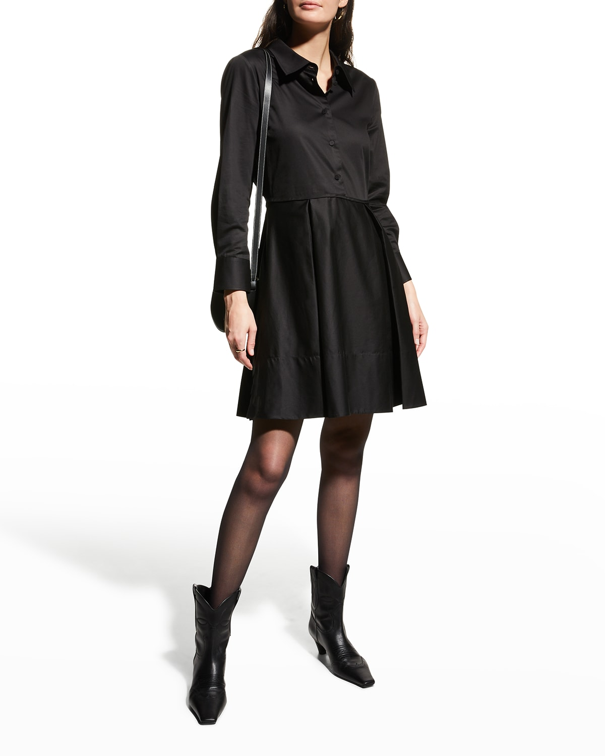Romy Fit-And-Flare Mini Shirtdress