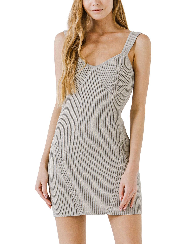 Corset Style Knitted Mini Dress