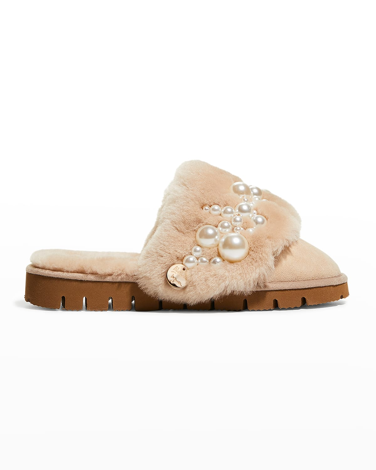 Pinctada Pearly Suede Mule Slippers