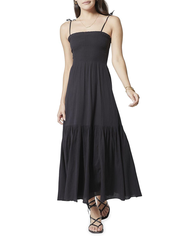 Jailene Smocked Cotton Maxi Dress