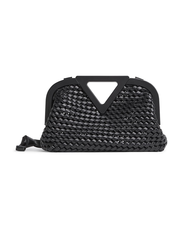 Point Slanted Intrecciato Triangle Top Handle Bag