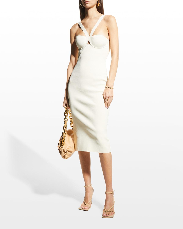 Venus Bustier Cutout Midi Dress