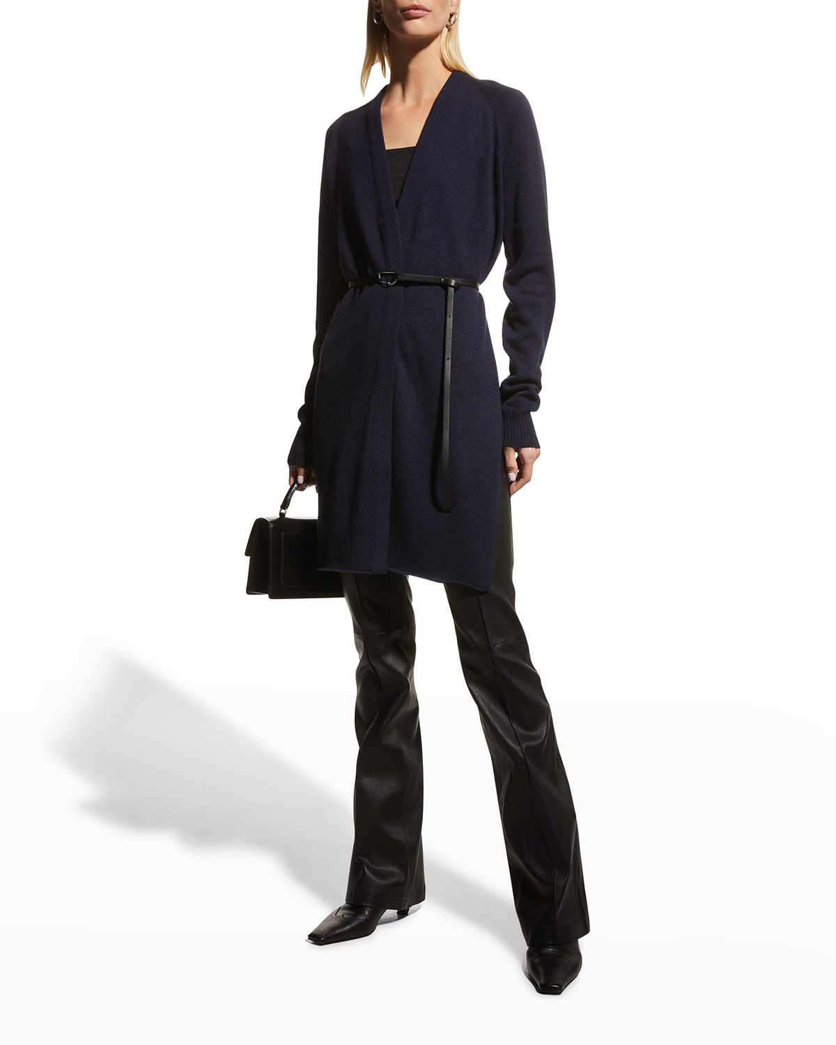 Belted Wool-Cashmere Cardigan