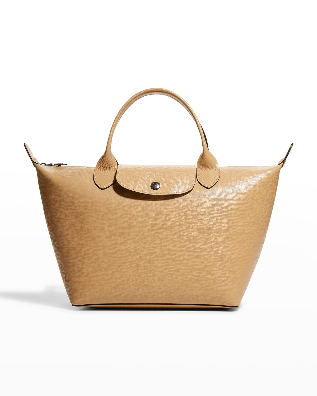 Le Pliage Cuir Boxy Small Handbag With Strap