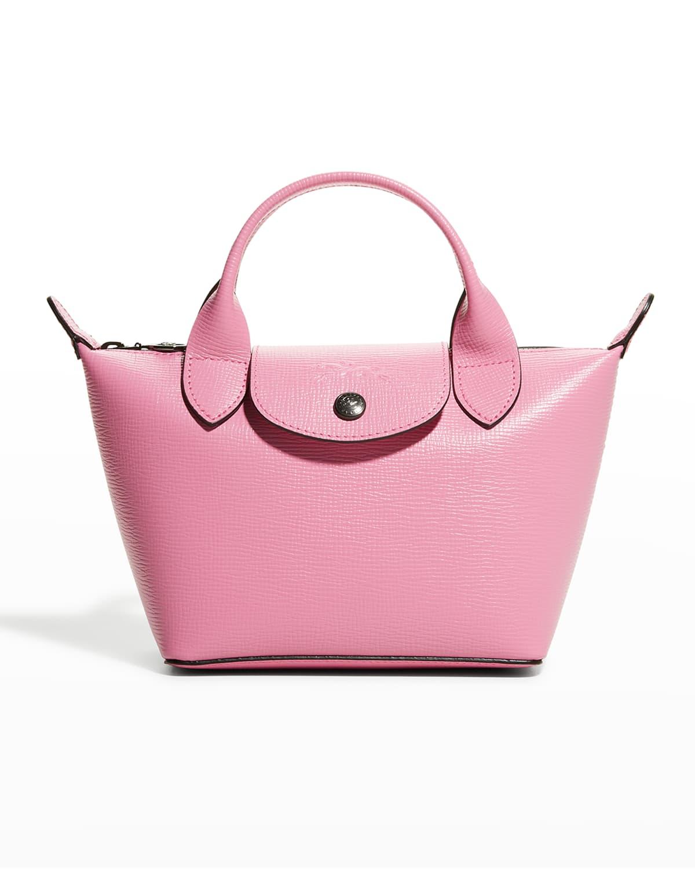 Le Pliage Cuir Boxy XS Handbag With Strap