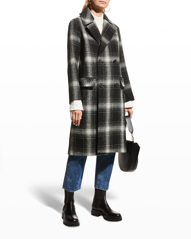 Oakley Harris Tweed Wool Coat