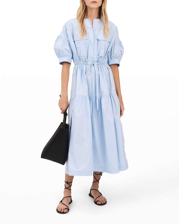 Andie Puff-Sleeve Maxi Dress