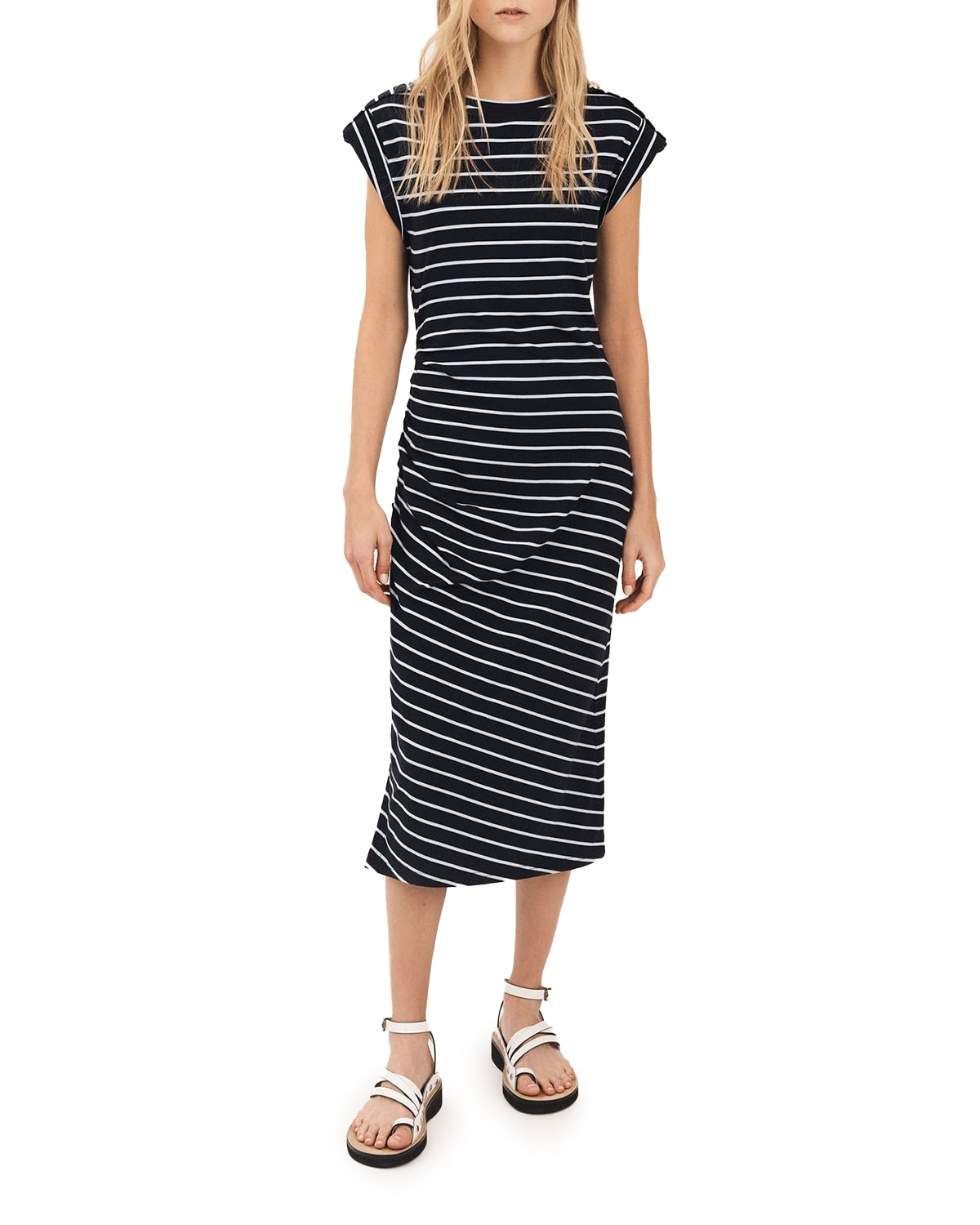 Marion Ruched T-Shirt Dress
