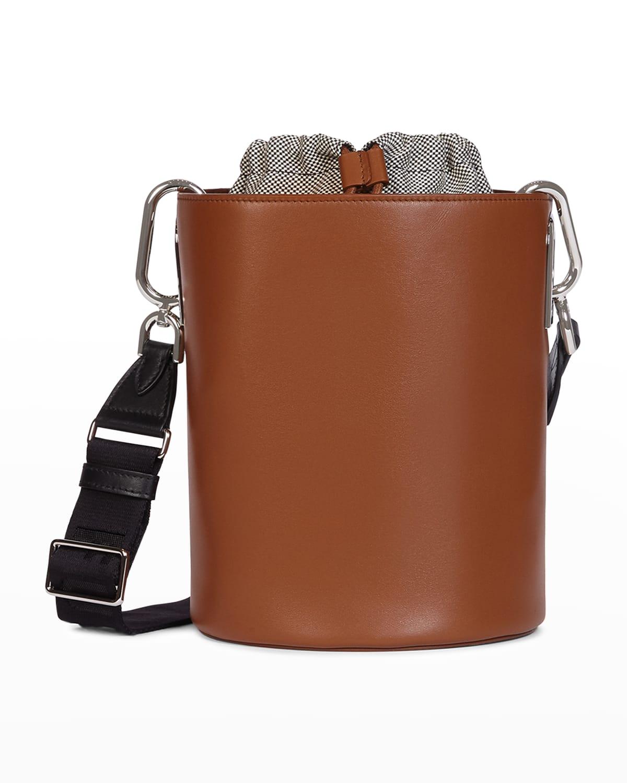 Liparis Drawstring Leather Bucket bag