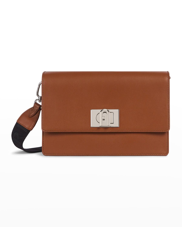 1927 Arch Logo Soft Leather Crossbody Bag