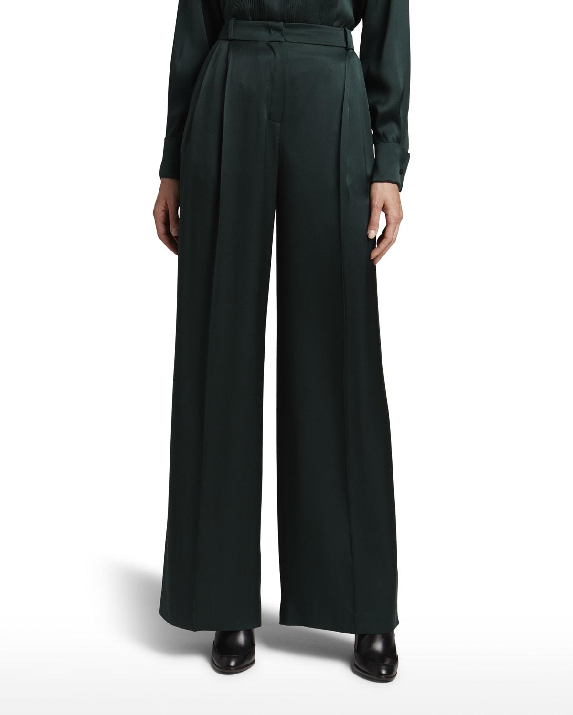 Golven Satin Wide-Leg Pants