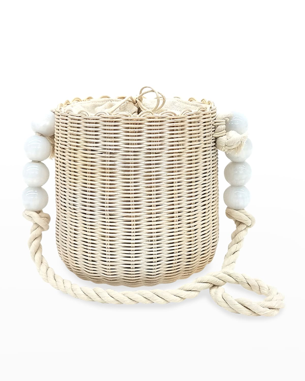 Marbella Beaded Rope Bucket Bag