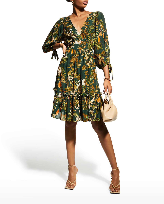 Millbrook Tie-Waist Floral Dress