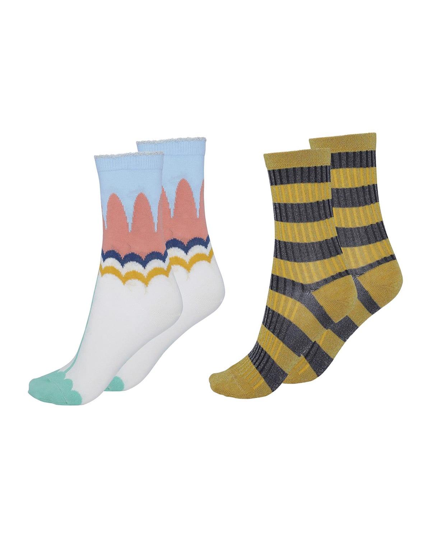 Kid's Nomi Mixed-Print 2-Pack Sock Set