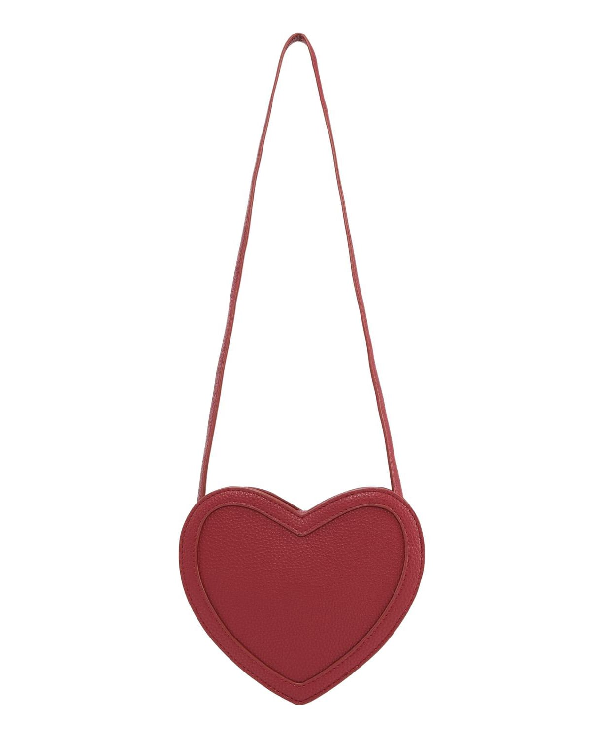 Girl's Heart-Shaped Faux-Leather Crossbody Bag