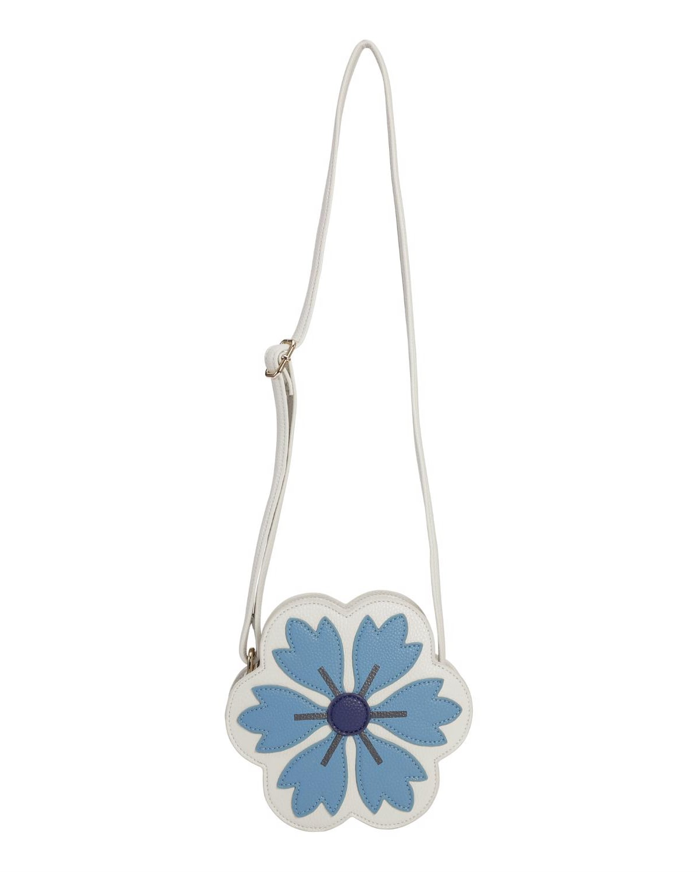 Girl's Flower Faux-Leather Crossbody Bag