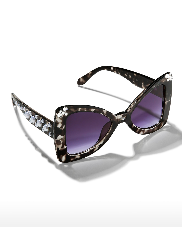 Kid's Tortoise Cat-Eye Sunglasses