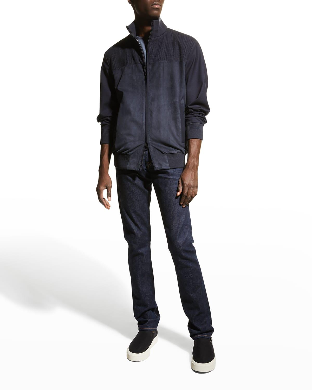 Men's Laidon Wool/Suede Bomber Jacket