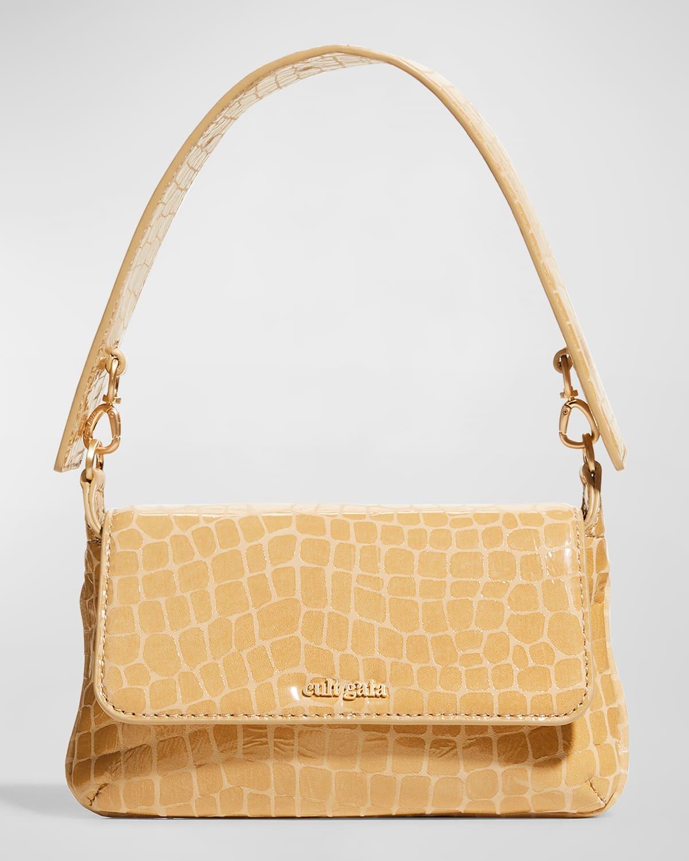 Damara Moc-Croc Crossbody Bag