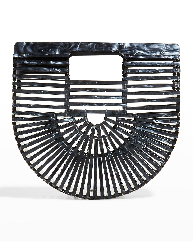 Ark Mini Pearlized Cutout Top-Handle Bag