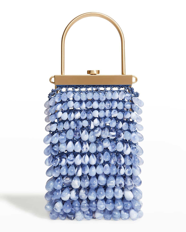 Hana Beaded Net Top-Handle Crossbody Bag