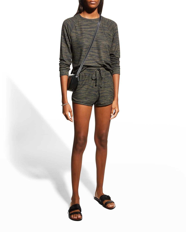 Paneled Drawstring Shorts