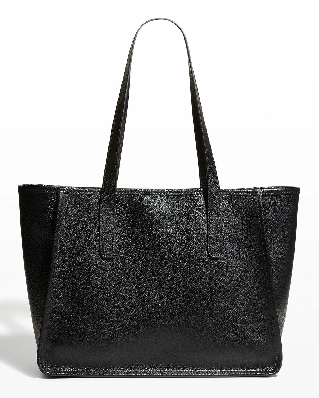 Le Foulonne Leather Shoulder Tote Bag