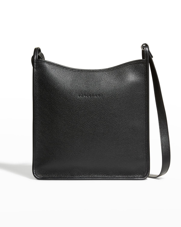 Le Foulonne Medium Leather Zip-Top Crossbody Bag