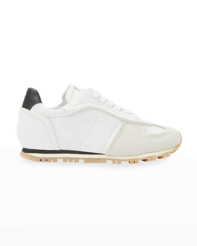 Mixed Nylon Retro Runner Sneakers