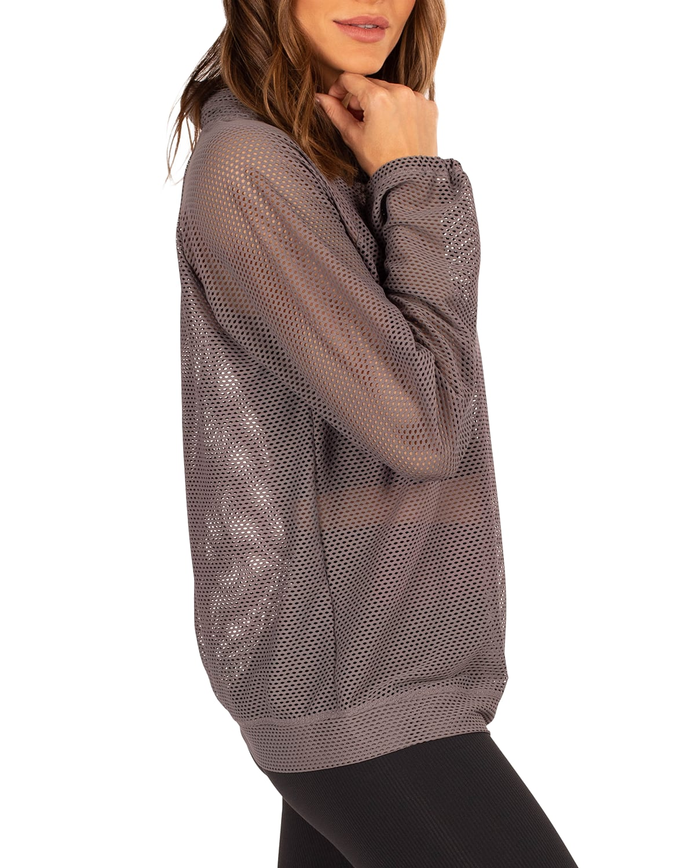 Probe Open Mesh Pullover Top