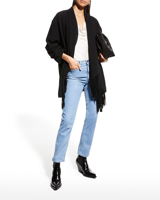 Azura Open-Front Fringe Jacket