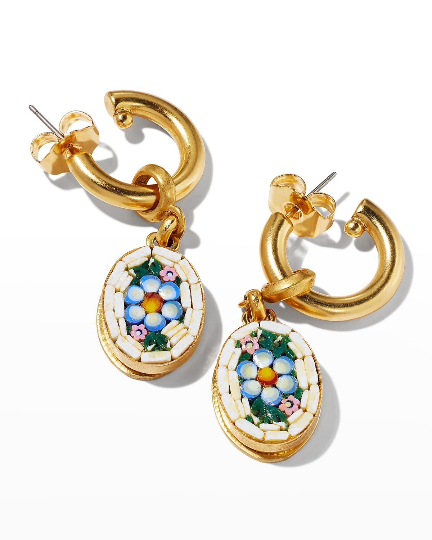 Mosaic Hoop Earrings